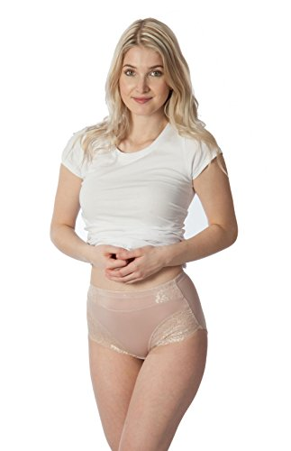 Classic High Cut Brief Panty - RUFINA 532 - Pack of 5 - Women's Classic Brief Panties Underwear Silky Soft Comfort Extra High Cut Briefs (Medium)