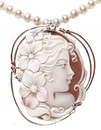 Cameo Pendant Summer Dream Sterling Silver Master Carved Italian Sardonyx Shell by cameosRus (Image #3)