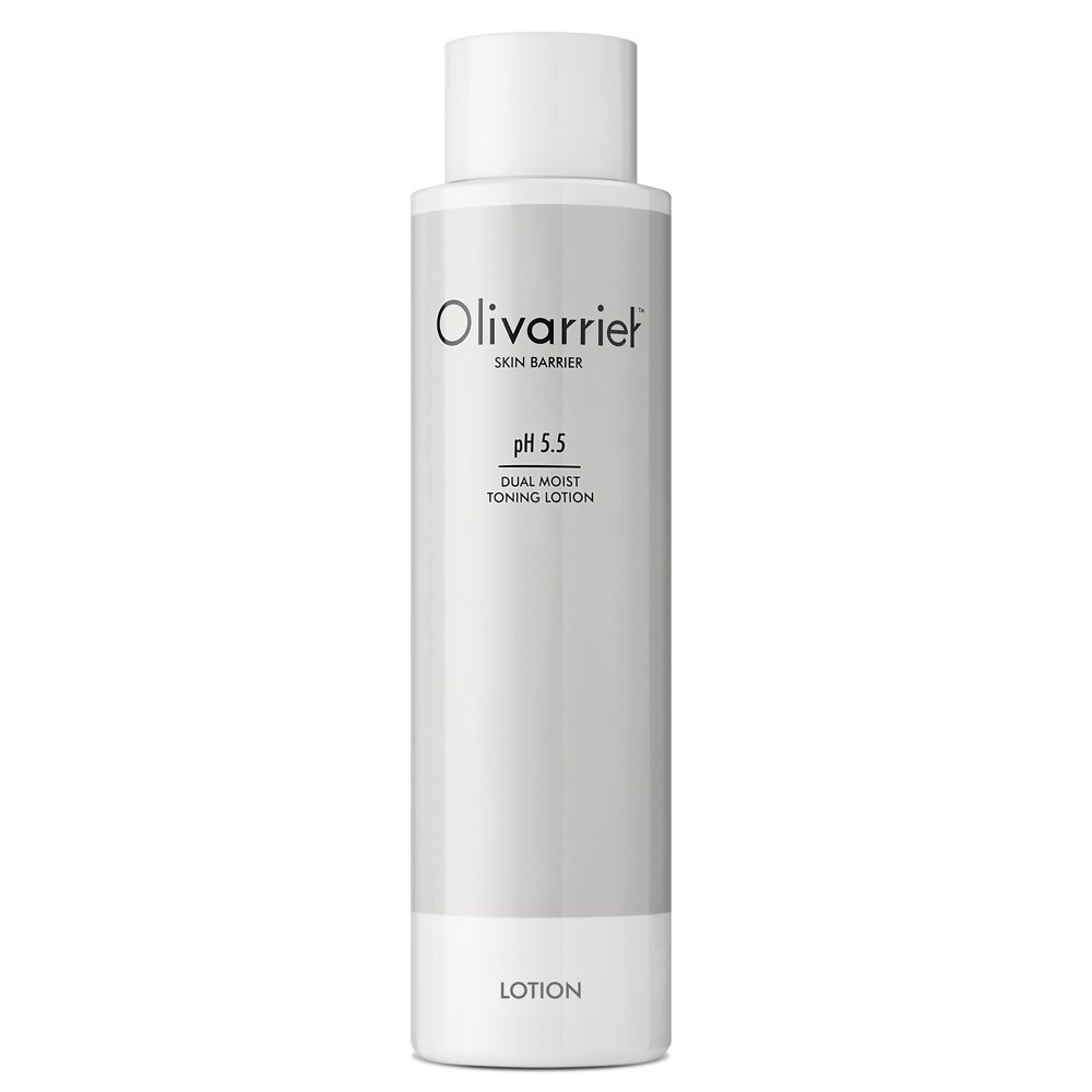 Olivarrier Dual Moist Toning Lotion 6.76 fl.oz. unscented moisturizing mildly acidic facial toner with micro hyaluronic acid olive squalane Calming Hydrating for All skin types even Sensitive skin. LTD