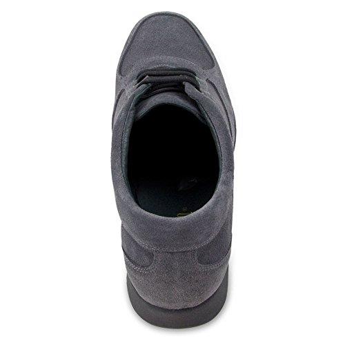 Masaltos Scarpe Da Uomo Che Aumentano In Modo Invisibile Le Dimensioni Del Corpo Fino A 7 Cm. Scarpe Da Uomo Con Tacco Nascosto. Modello Grigio Matera