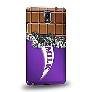 Case88 Premium Designs Art Chocolate Series Purple Milk Chocolate Bar Protective Snap-on Hard Back Case Cover for Samsung Galaxy Note 3