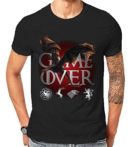 53c058dc1 Made in USA GOT Game of Thrones Season 8 Dragon Game Over Final Khaleesi  Targaryen Gift T-Shirts | Amazon.com