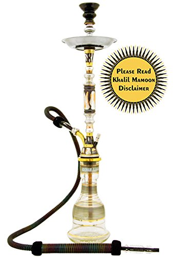 "KHALIL MAMOON PHARONIE OXIDIZED 33"" COMPLETE HOOKAH SET: Single Hose shisha pipe. Handmade Egyptian Narguile Pipes. These are Traditional Heavy Tri-Metal Hookahs. by Khalil Mamoon"