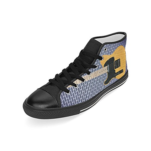 D-Story Custom Guitar Mens Classic High Top Canvas Shoes Fashion Sneaker JQjrg