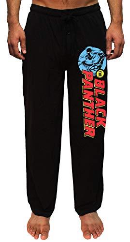 Marvel The Black Panther Comic Print Men's Lounge Pajama Pants (Large)