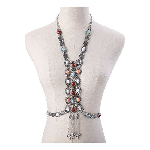 Paxuan Colorful Turquoise Necklace Statement