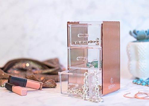 Amazoncom Rose Gold Acrylic Makeup Jewelry Stationary Holder