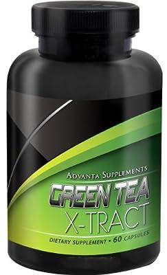 Advanta Supplements Green Tea X-tract, 500mg, 60 Capsules