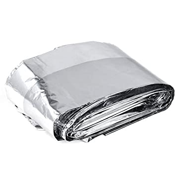 SODIAL(R) 10 x Manta Termica Papel de Aluminio para Emergencia - 140 X
