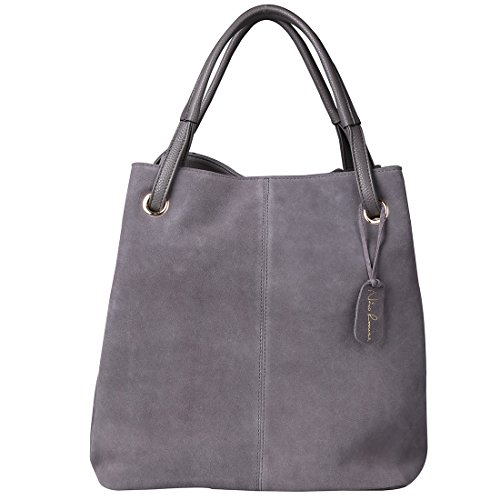 Grey Leather Handbags - 3