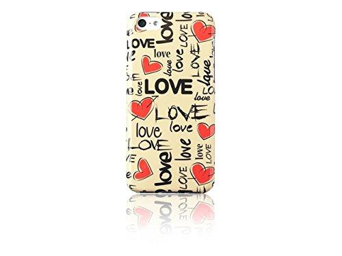 Spada 008721 Smartphone Schutzhülle Back Case - IMD - iPhone 5C - Love