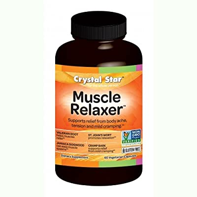Crystal Star Muscle Relaxer Herbal Supplements, 60 Count
