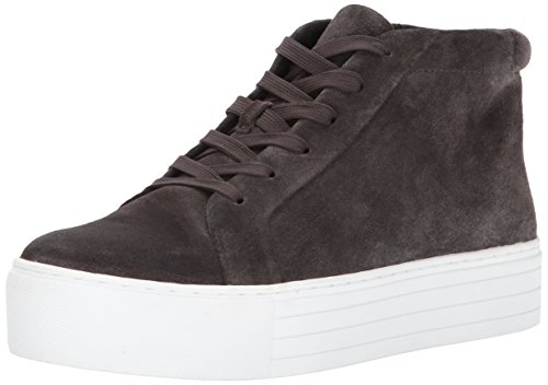 Kenneth Cole New York Women's Janette High Top Lace up Platform Suede Fashion Sneaker Asphault
