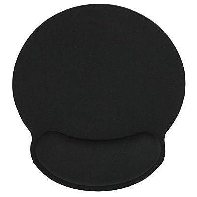 HONESTY Black Memory Sponge Keyboard Mouse Pad Wrist Rest