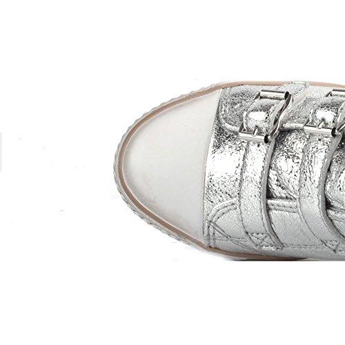 Ash Zapatos Genial Zapatillas Plateado Mujer Plateado