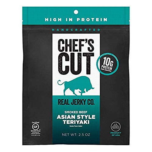 Chef's Cut Real Beef Jerky, Asian Teriyaki, 2.5 Ounce (8 Pack)