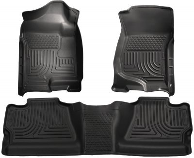 Husky Liners WeatherBeater™ Floor Liners (1st and 2nd Rows, Black) 98201