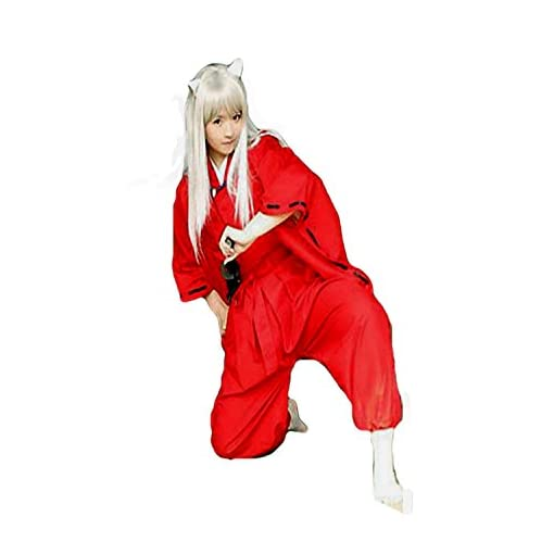 [BTW.JP] Japanese Cosplay Inuyasha Hero Simplified Costume Unisex S-XXL