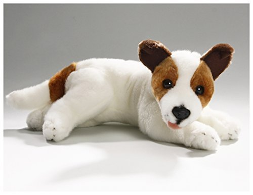 (Carl Dick Jack Russell Terrier lying 12 inches, 30cm, Plush Toy, Soft Toy, Stuffed Animal 2472)