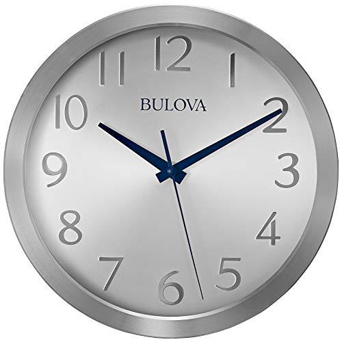 - Bulova C4844 Winston Wall Clock, Silver