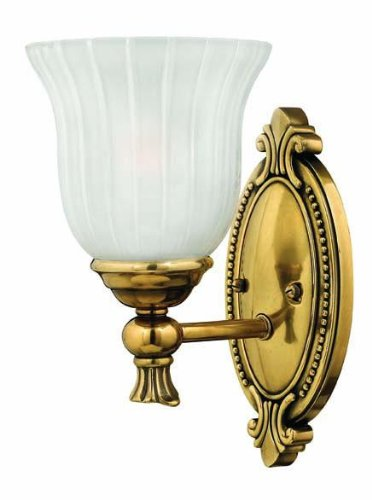 Hinkley 5580BB Traditional One Light Bath from Francoise collection in Brassfinish,