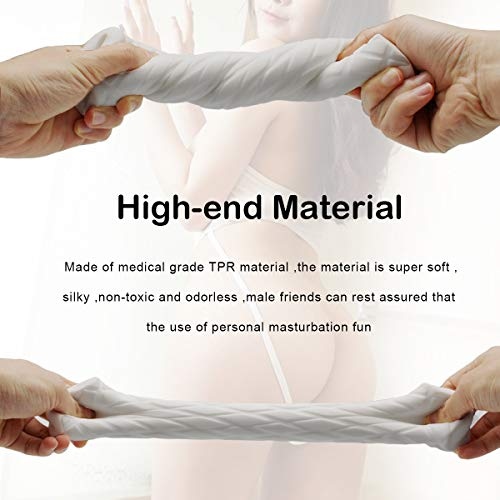 Male Masturbators Adult Sex Toys 3D Realistic Pocket Vagina Pussy Masturbator Cup Sleeve Stroker for Men Discreet Package(Yellow)