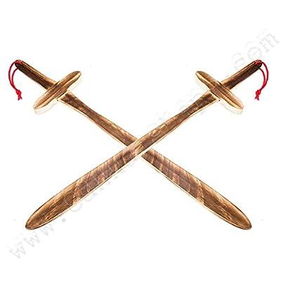 Épée en bois 60cm pour enfants et déguisements - x2