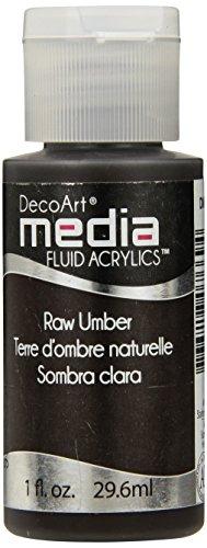 Deco Art Media Fluid Acrylic Paint, 1-Ounce, Raw Umber