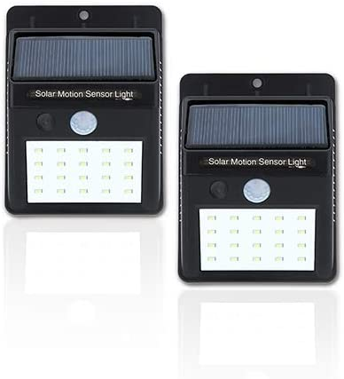 20-LED Solar Powered Motion Activated Wall Light, 2-pack