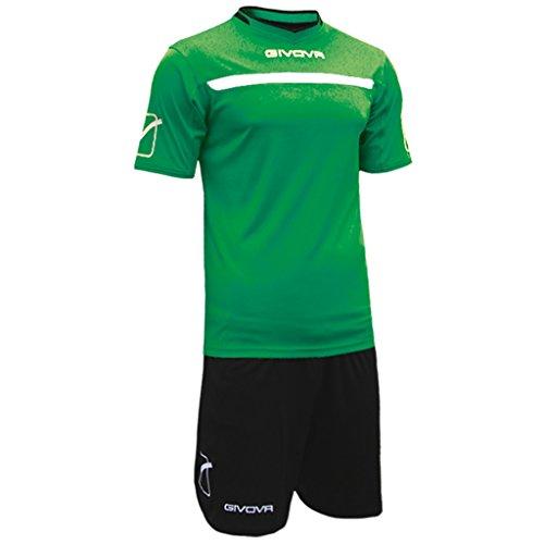 Verde Kitc58 Calcio Maglia Givova Da nero Unisex E Adulto Pantaloncino wAUqOHgWd8