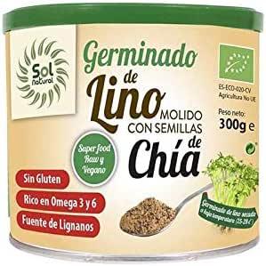 Sol Natural Germinado Bio Germinado de Lino molido con semillas de Chía, 300gr: Amazon.es: Alimentación y bebidas