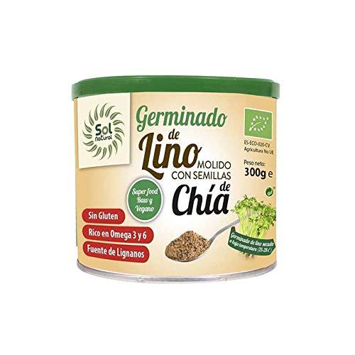 Sol Natural Germinado Bio Germinado de Lino molido con semillas de Chía, 300gr