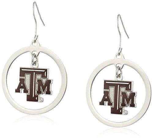 NCAA Texas A&M Aggies Floating Logo Hoop Earrings