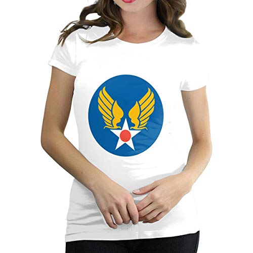 US Army Air Corps Hap Arnold Wings Women Short-Sleeve Round Neck T Shirt Blouses Tops