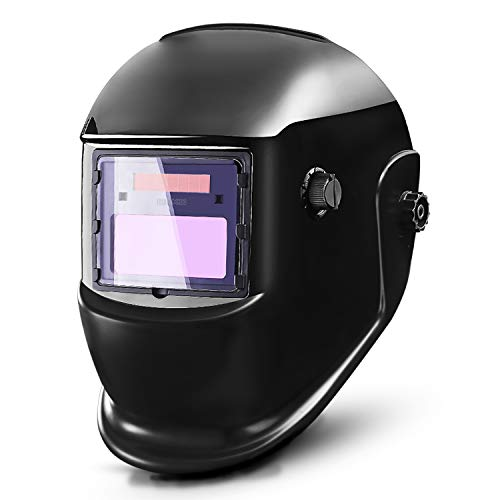 DEKOPRO Auto Darkening Solar Welding Helmet ARC TIG MIG Weld Welder Lens Grinding Mask New Black Design (Best Welding Helmet Under $100)