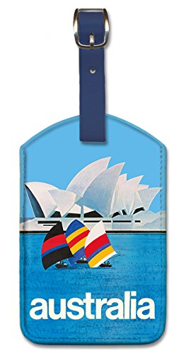 Luggage Australia Tag (Pacifica Island Art Leatherette Luggage Tag Baggage - Australia Sydney Opera)
