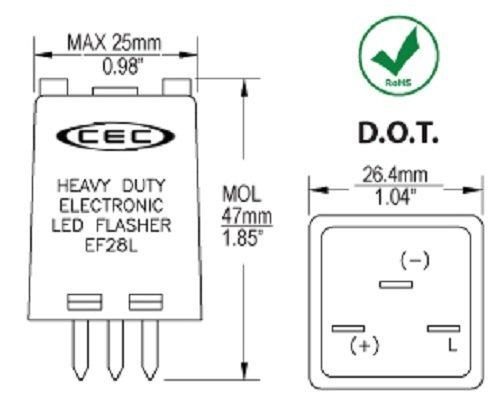 CEC Industries EF28L LED Flasher