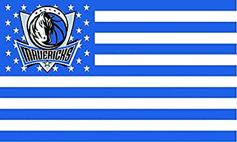 fcf172451ab72 Dallas Mavericks American Flag Logo Flag 3x5- With Grommets at ...