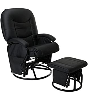 online store 6edd9 3ba35 NOIR (Black) Couture Cloud Nine Nursing Chair And Stool
