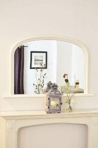 Large Matt Black Over Mantle Wall Mirror 4Ft X 2Ft7 120cm X 79cm