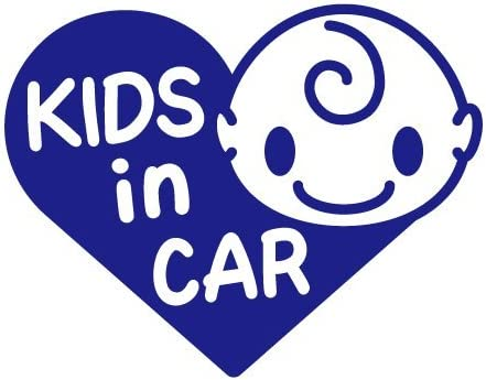 Sticker Shop Haru KIDS IN CAR ステッカー ハート型Aタイプ 15cm ブルー