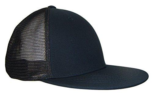 Magic Apparel 6 Panel Mesh Trucker Style Snapback Baseball Cap (One Size, Black)