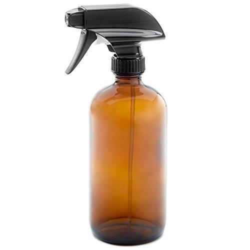 16oz Empty Amber Dark Brown Glass Spray Bottle  - Mist & Str