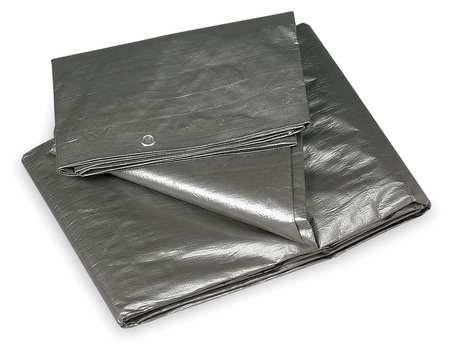 - Tarp, Polyethylene, Silver/Black, 20x30Ft