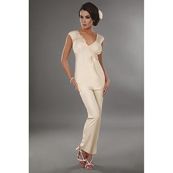 18ca5e991a6b Amazon.com  Livia Corsetti X-Large Cream Timea Night Shirt with ...