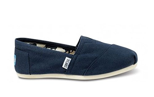 TOMS Women's Canvas Slip-On,Navy