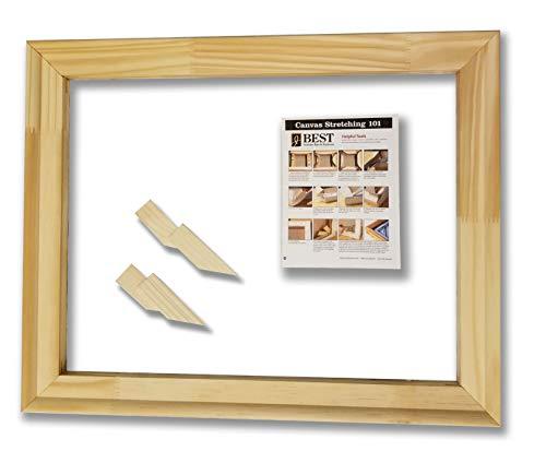 (Stretcher Bar Kit-Jack Richeson Medium Duty Stretcher Bars, 16 Qty 2; 20 Qty 2; Wood Keys, Canvas Stretching 101 Guide (9 Items))