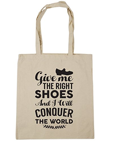 litres 10 the Gym shoes conquer Shopping Give Natural and right 42cm I HippoWarehouse Tote world Beach tap me the x38cm Bag will qIwHRnISzx