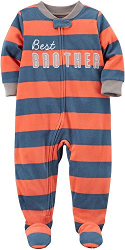 610eb82e4e6c Galleon - Carter s Boys  12M-8 One Piece Best Brother Fleece Pajamas ...