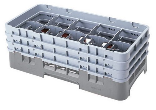 Cambro (10HS318151) 10 Compartment Half-Size Glass Rack - Camrack by Cambro